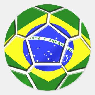 Brazilian flag Samba futebol soccer ball gifts Sticker