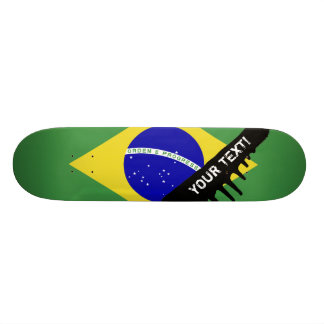 Brazilian Flag Skate Board Deck