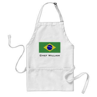 Brazilian Flag Standard Apron