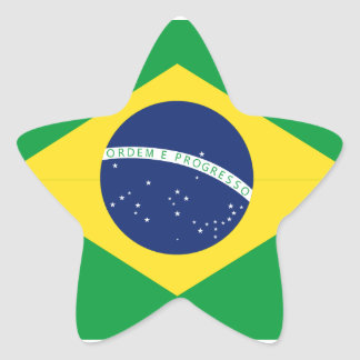 Brazilian flag star sticker