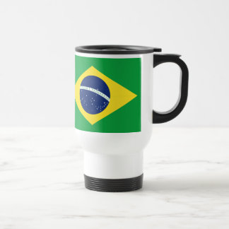 Brazilian flag travel mug