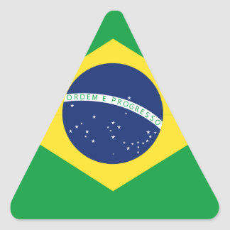 Brazilian flag triangle sticker