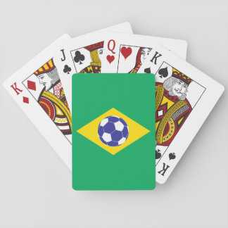 Brazilian Football Flag Playing Cards