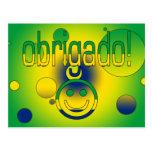Brazilian Gifts Thank You / Obrigado + Smiley Face