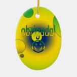 Brazilian Gifts Thank You / Obrigado + Smiley Face Ornaments