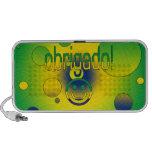 Brazilian Gifts Thank You / Obrigado + Smiley Face Mp3 Speaker