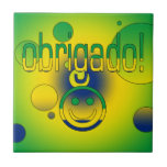 Brazilian Gifts Thank You / Obrigado + Smiley Face Tiles