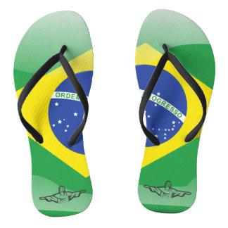 Brazilian glossy flag thongs
