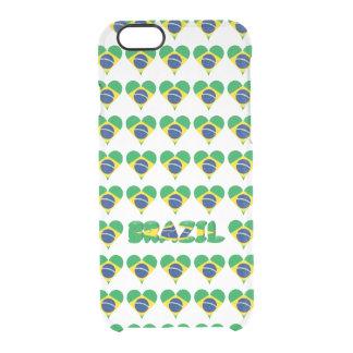 Brazilian heart flag clear iPhone 6/6S case