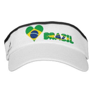 Brazilian heart flag visor