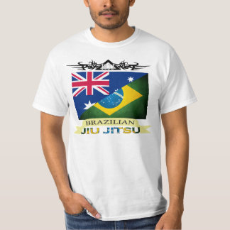 Brazilian Jiu Jitsu - Australian /Brazilian Flag T Tshirt
