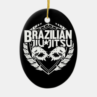 Brazilian Jiu Jitsu Emblem Ceramic Ornament
