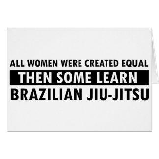 Brazilian jiu jitsu gift items card