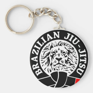 Brazilian Jiu-Jitsu (Key Chain) Basic Round Button Key Ring