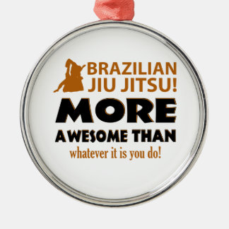BRAZILIAN JIU JITSU METAL ORNAMENT