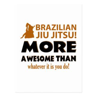 BRAZILIAN JIU JITSU POSTCARD