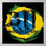 Brazilian Jiu Jitsu - Vortex Flag Poster