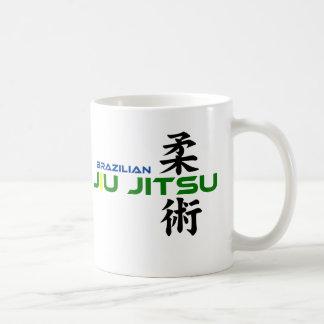 Brazilian Jiu Jitsu with Japanese Characters Basic White Mug
