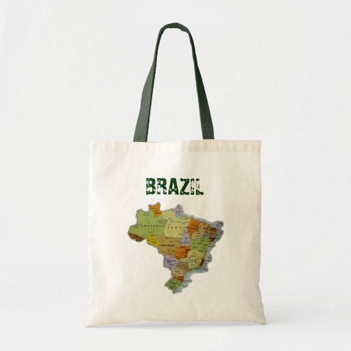 Brazilian Map Tote Bags