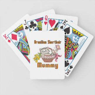 Brazilian Shorthair Cat Mom Bicycle Playing Cards