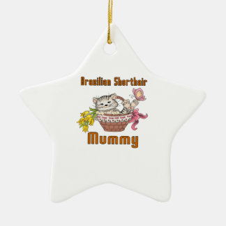 Brazilian Shorthair Cat Mom Ceramic Ornament
