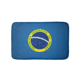 Brazilian state seal bath mat