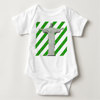 Brazilian stripes flag baby bodysuit