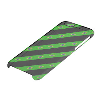 Brazilian stripes flag clear iPhone 6/6S case