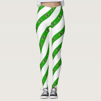 Brazilian stripes flag leggings