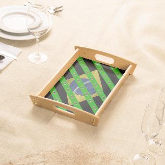 Brazilian stripes flag serving tray