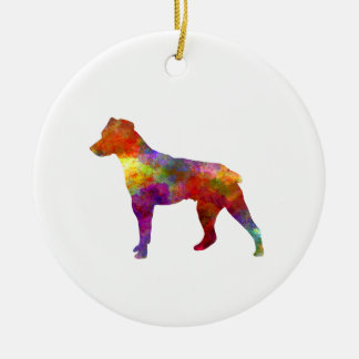 Brazilian Terrier in watercolor Ceramic Ornament