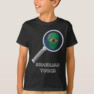 Brazilian touch fingerprint flag T-Shirt