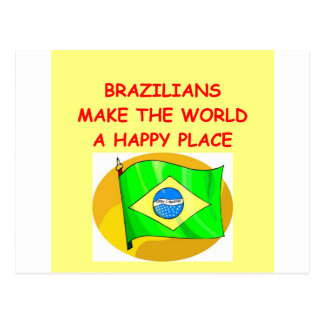 brazilians postcard