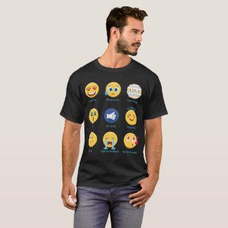 Brazillian Jiu-jitsu 9 Shades BJJ Emoji Emoticons T-Shirt