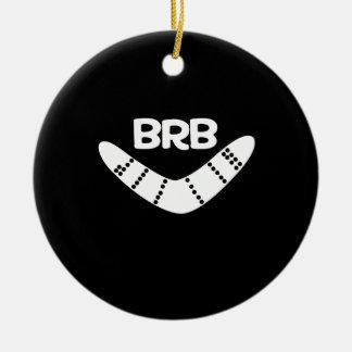 BRB Boomerang Ceramic Ornament