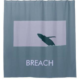 Breach Humpback Shower Curtain