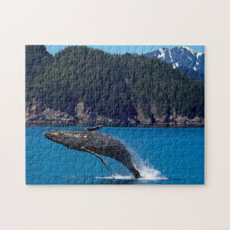 Breaching Hump Back Whale. Jigsaw Puzzle