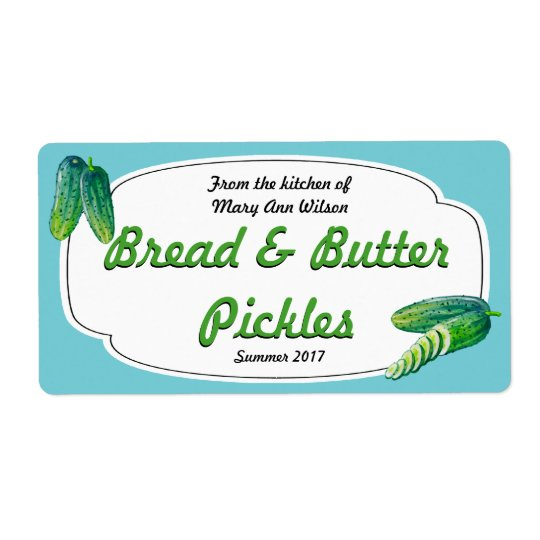 Bread and Butter Pickles Canning Shipping Label