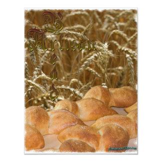 "Bread Artisan 4.25"" X 5.5"" Invitation Card"