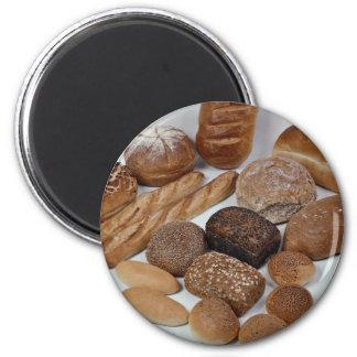 Bread assortment 6 cm round magnet
