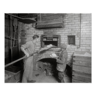 Bread Bakers, 1917. Vintage Photo Poster