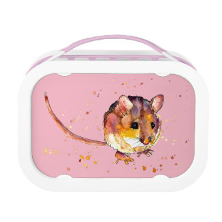 Bread box with handpainted mouse