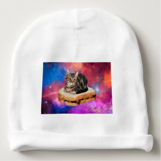 bread cat  - space cat - cats in space baby beanie