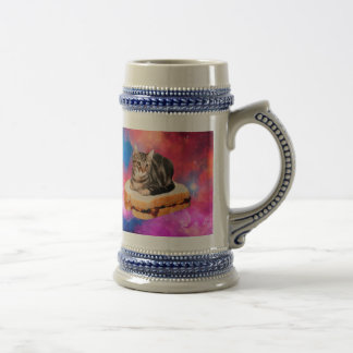 bread cat  - space cat - cats in space beer stein