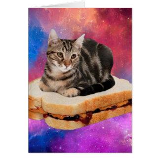 bread cat  - space cat - cats in space card