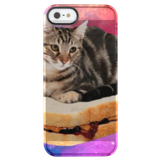 bread cat  - space cat - cats in space clear iPhone SE/5/5s case