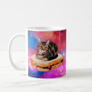 bread cat  - space cat - cats in space coffee mug