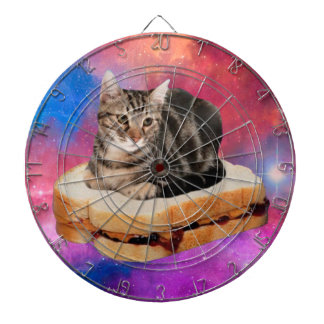 bread cat  - space cat - cats in space dartboard