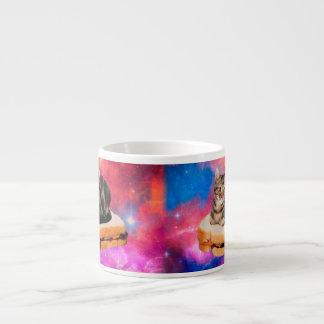 bread cat  - space cat - cats in space espresso cup