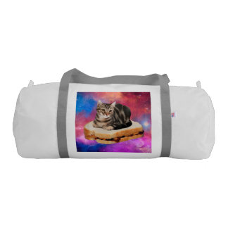 bread cat  - space cat - cats in space gym duffel bag